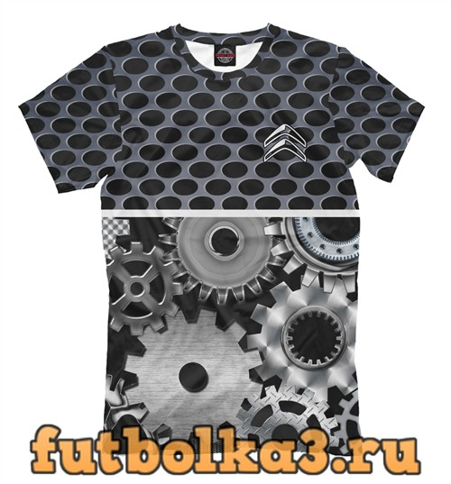 Футболка Citroen metal мужская