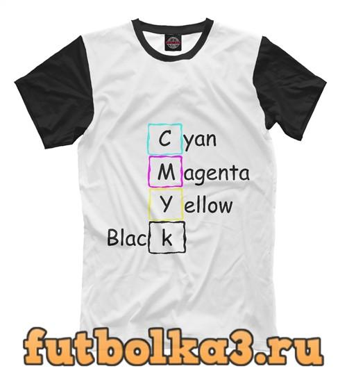 Футболка Cmyk color мужская