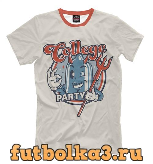 Футболка College party мужская