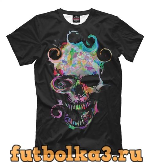 Футболка Colored skull мужская