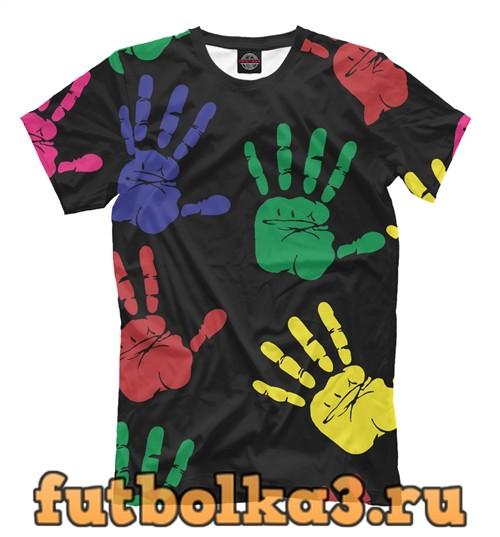 Футболка Colorful hands мужская