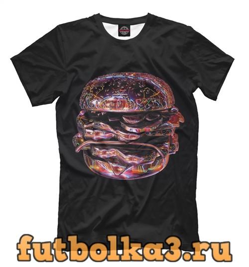 Футболка Computer hamburger мужская