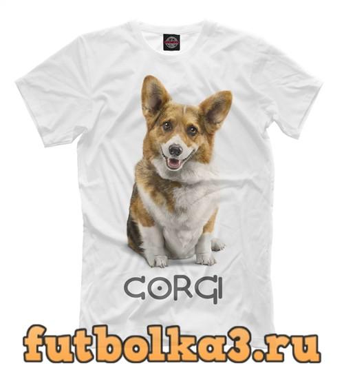 Футболка Corgi dog мужская