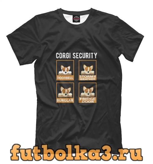 Футболка Corgi security мужская