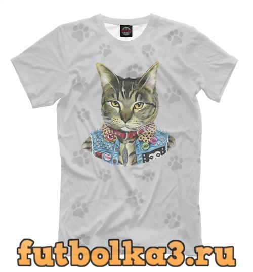 Футболка Cowboy cat мужская