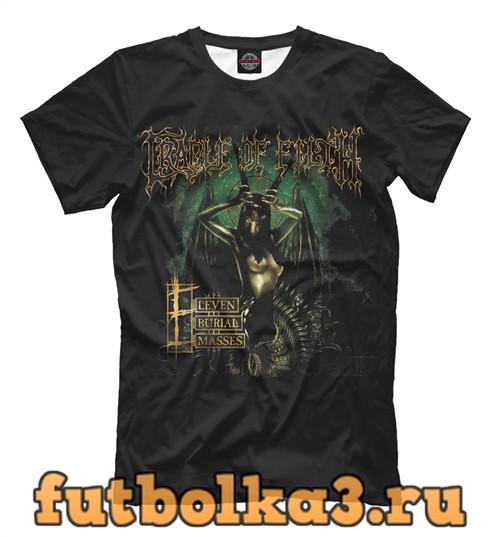 Футболка Cradle of filth: eleven burial masses мужская