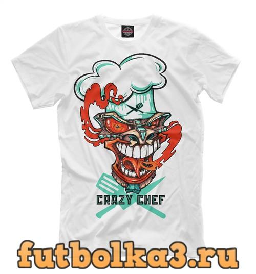 Футболка Crazy chef мужская