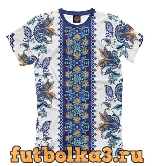 Футболка Цветочный орнамент мужская