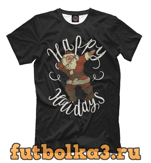Футболка Dab santa мужская