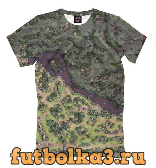 Футболка Дота 2 карта весна мужская
