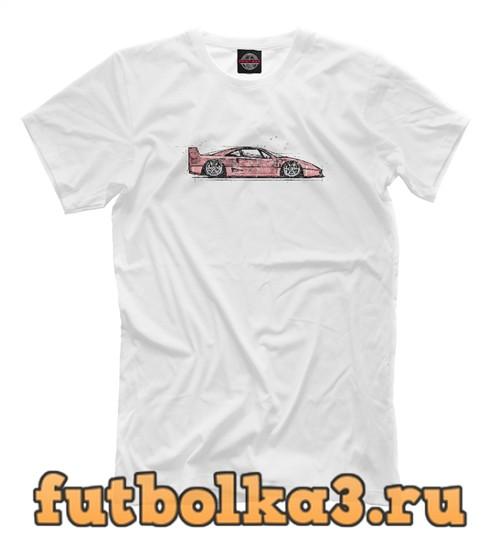 Футболка F40 red scetch мужская