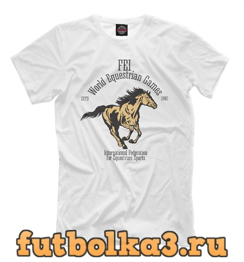 Футболка Fei world equestrian games мужская