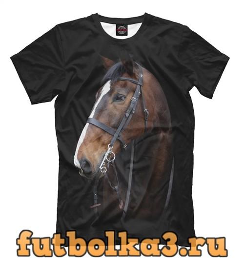 Футболка Гнедая лошадь мужская