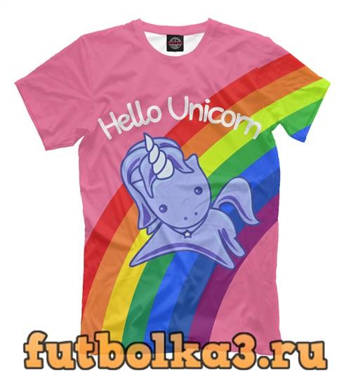 Футболка Hello unicorn мужская