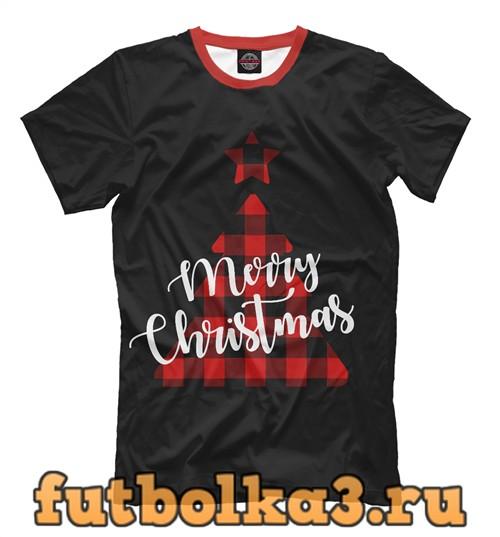Футболка Merry christmas мужская