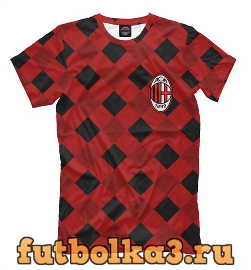 Футболка Milan fc texture мужская