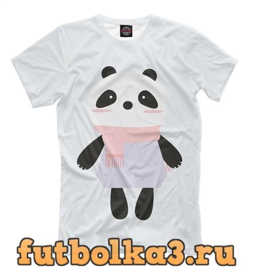 Футболка Панда в шарфе мужская