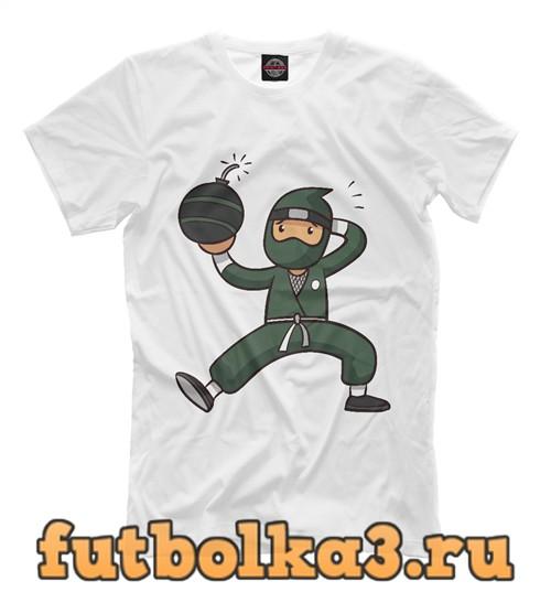 Футболка Ниндзя с бомбой мужская
