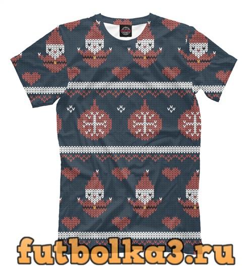 Футболка Новогодний вязанный свитер мужская