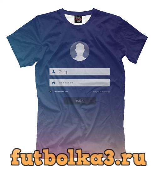 Футболка Олег мужская
