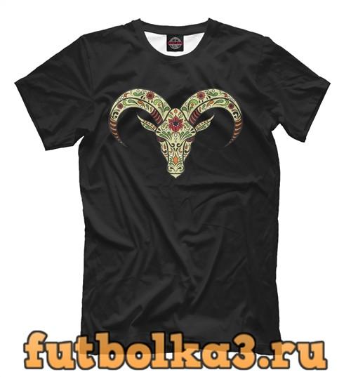 Футболка Овен - сахарный череп мужская