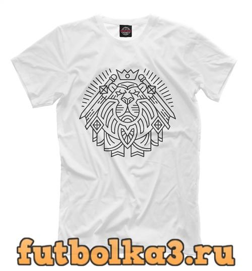 Футболка Паладин герб черный мужская