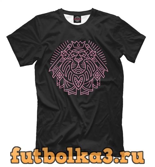 Футболка Паладин герб розовый мужская