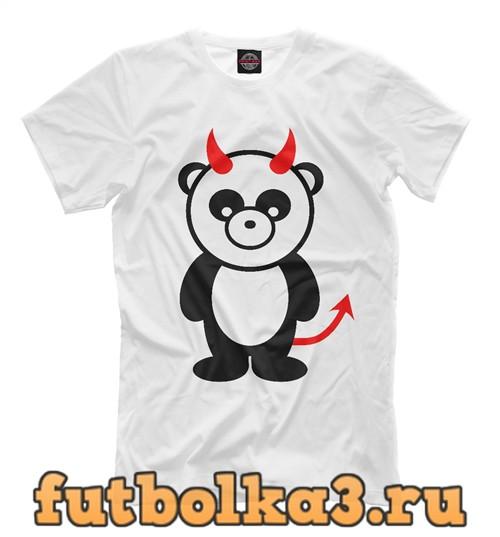 Футболка Панда-дьявол мужская