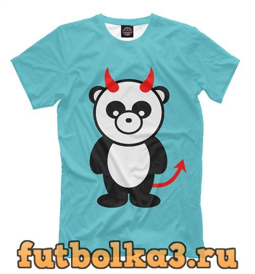 Футболка Панда дьявол мужская