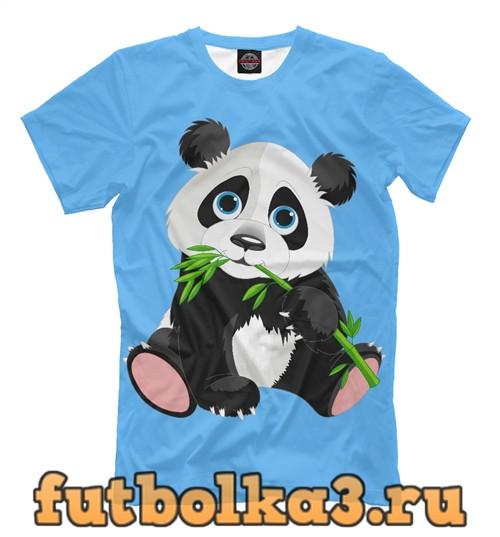 Футболка Панда и бамбук мужская