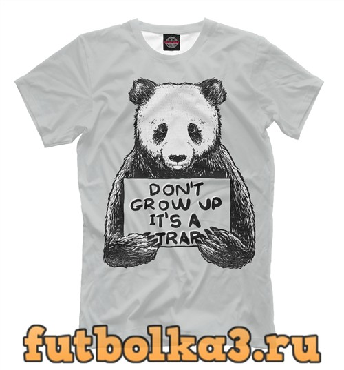 Футболка Панда лозунг мужская