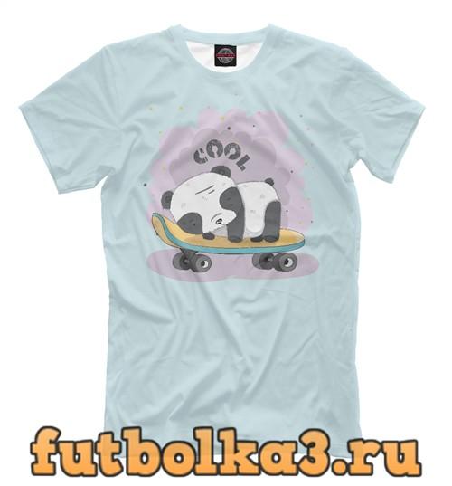 Футболка Панда-малыш на скейте мужская