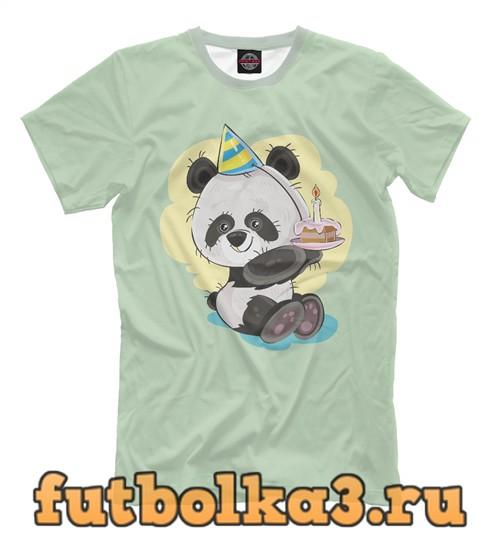 Футболка Панда-малыш с тортиком мужская