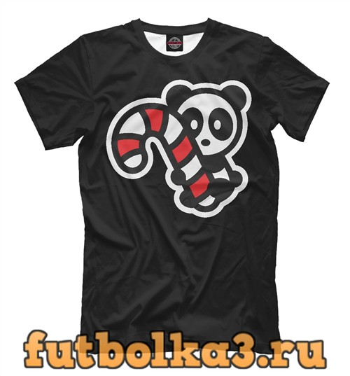Футболка Панда с конфетой мужская