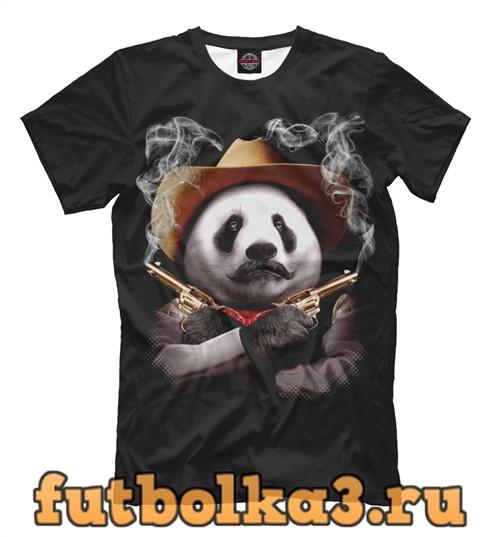 Футболка Панда шериф мужская