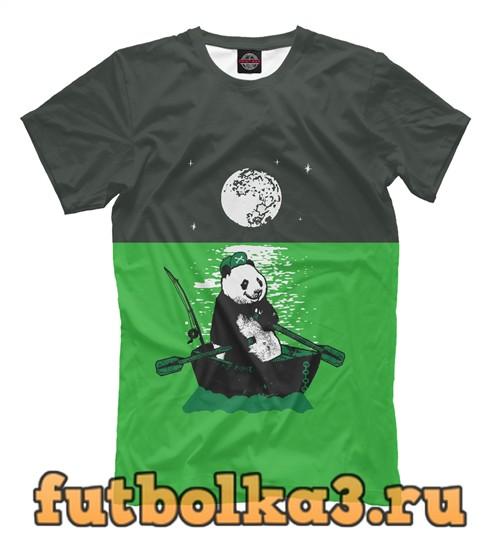 Футболка Панда в океане мужская