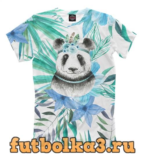 Футболка Панда в тропиках мужская