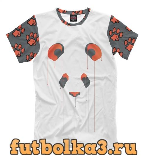 Футболка Панда/краски мужская