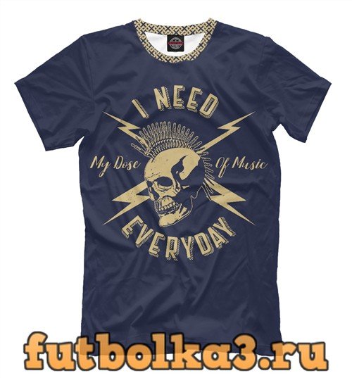 Футболка Панк рок музыка мужская