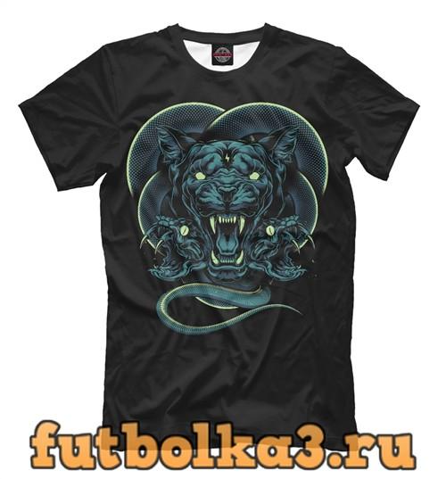 Футболка Пантера со змеями мужская