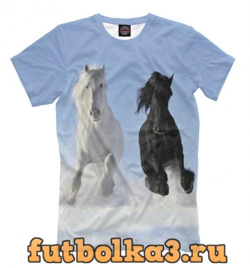 Футболка Пара лошадей мужская