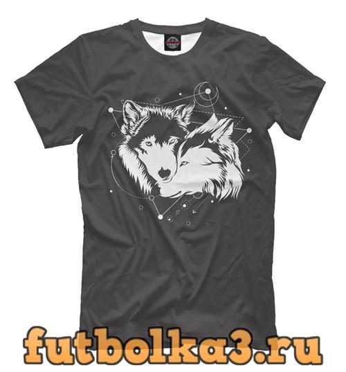 Футболка Пара волков мужская