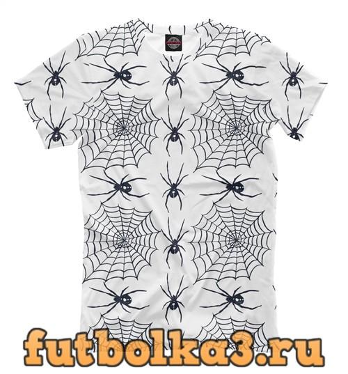 Футболка Пауки и паутина мужская