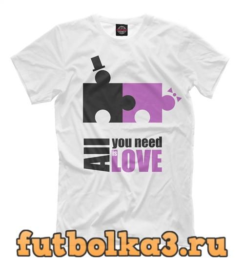 Футболка Пазлы любви мужская