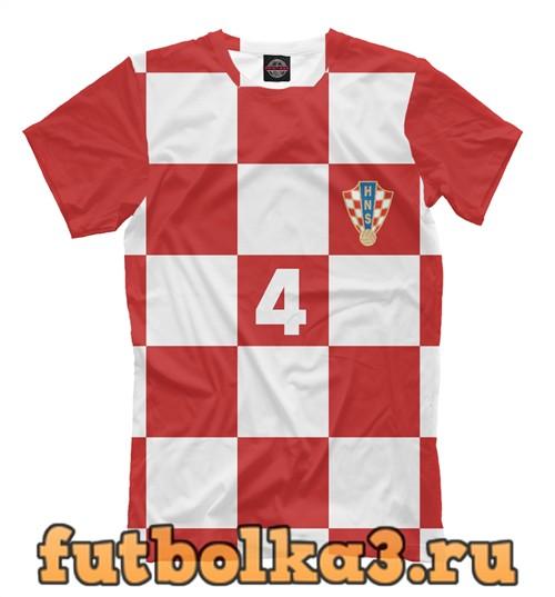Футболка Перишич хорватия 4 мужская