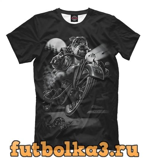 Футболка Пёс-байкер / biker dog мужская