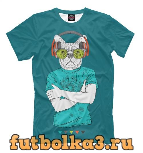 Футболка Пёс-хипстер мужская