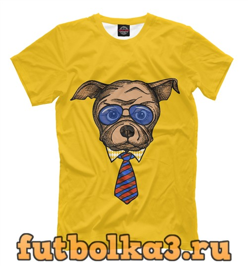 Футболка Пес в очках мужская