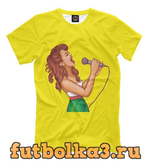 Футболка Певица мужская