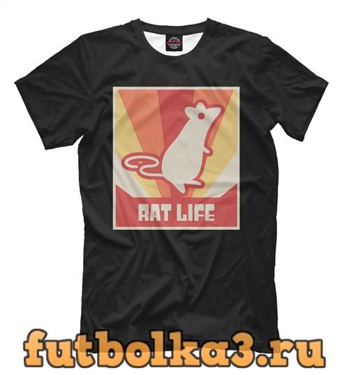 Футболка Rat life мужская